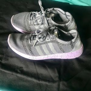Grey and Purple Adidas